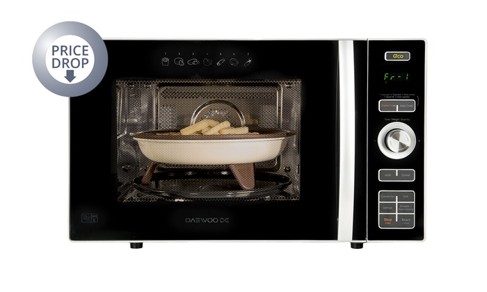 Groupon Goods Global Gmbh Daewoo Koc8hafr Convection Microwave Oven With Airfryer Function Grill 900w
