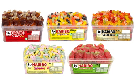 One or Two Tubs of Haribo Sweets in Variety of Flavours