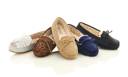 Sociology Women's Moccasin Slippers | Groupon Exclusive