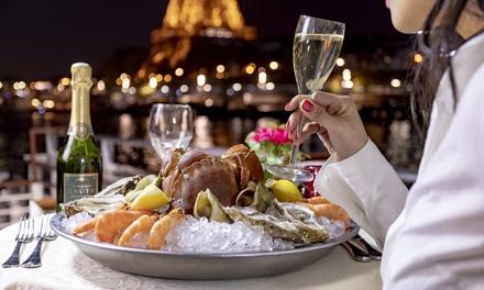 Croisière sur la Seine et dîner Romantique à 2