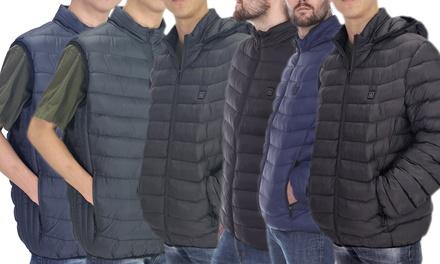 LeeHanTon Men's Heated Technology Bubble Vest or Jacket (S-2XL)