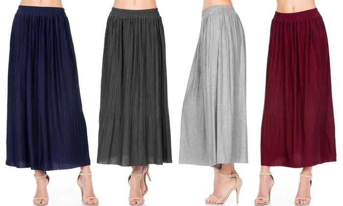 b415912ba6 Up To 50% Off on FACA Women's Accordion Skirts | Groupon Goods