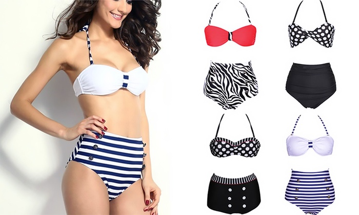 ab4fa4fe4810 Bikinis estilo pin up | Groupon Goods