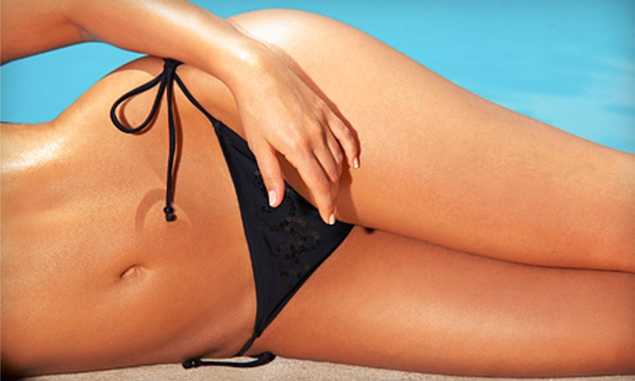 Celebrity Tanning - Multiple Locations: $24 for Three Mystic Spray-Tan Sessions or One Month of UV Tanning at Celebrity Tanning (Up to $57 Value)