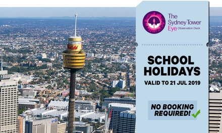 Sydney Tower Eye Entry: Child Aged 315 $18 or Adult Entry $26.10