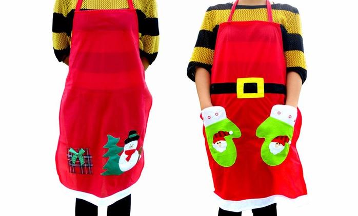 Weihnachtliche Küchenschürze (bis zu 40% sparen*)