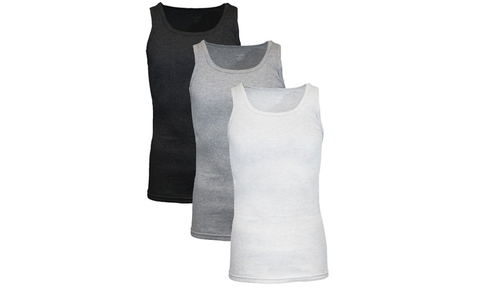 Galaxy By Harvic Men's Classic Ribbed Tank (3-Pack)