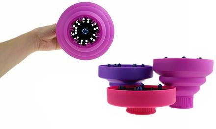 Difusor universal para secador de pelo en silicona plegable, con envío gratuito