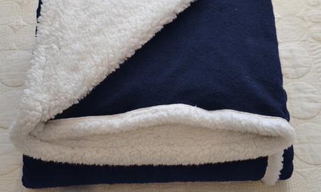 Manta de flannel con reverso de borreguito