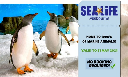 SEA LIFE Melbourne: Child ($25.50) or Adult ($37.40) Entry (Up to $44 Value) - Valid till 31st May 2021