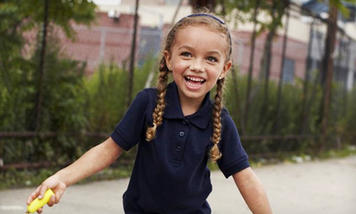 Girls Short- and Long-Sleeved Polos: Two-Pack of Girls Short- or Long-Sleeved Polos in Navy or Blue (Up to 33% Off). Multiple Sizes Available.