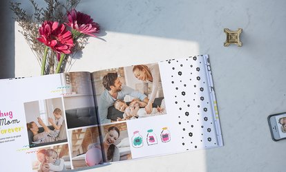 image for 40-Page Custom Hardcover Photo Book from Photobook Canada (Up to 89% Off). Seven Options Available.