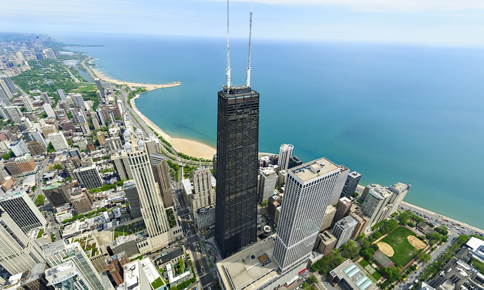 360 CHICAGO, Formerly John Hancock Observatory - Chicago: Sun and Stars Admission for One, Two, or Four Adults at 360 CHICAGO (25% Off)