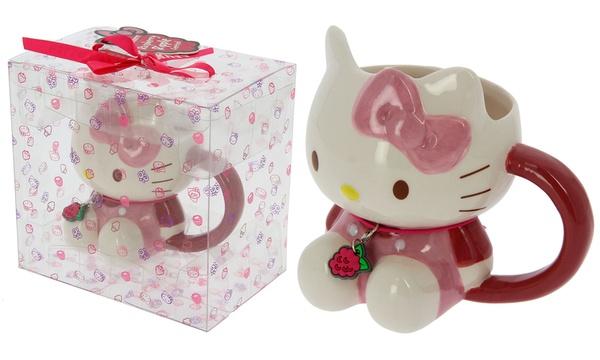 Tazza in ceramica Hello Kitty in 3D con scatola trasparente