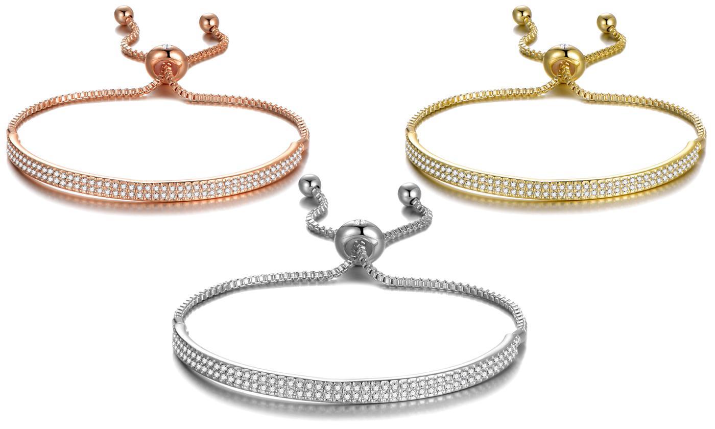 Philip Jones Cuff Bracelet with Crystals from Swarovski®