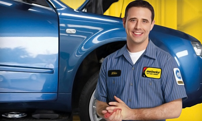 Meineke - Baytown: Synthetic-Blend Oil Change, Two- or Four-Wheel Alignment, or AC Recharge at Meineke in Baytown (Up to 57% Value)