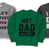 Men's Dad Humor Crewneck Pullover Sweatshirts