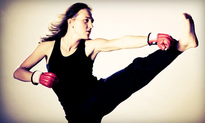 Ring Side Fitness Center - Downtown Wichita: 10 Drop-In Kickboxing Classes or One Month of Unlimited Kickboxing Classes at Ring Side Fitness Center (Up to 69% Off)