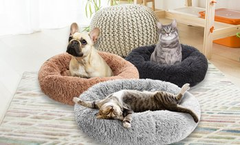 Donut-Shaped Pet Calming Bed