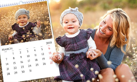 Up to Five Personalised A4 Photo Calendars from Colorland (Up to 86% Off)