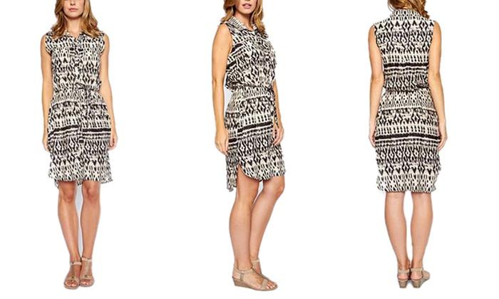 be0be3d86ad Women s Button Down Knee-Length T-Shirt Dress