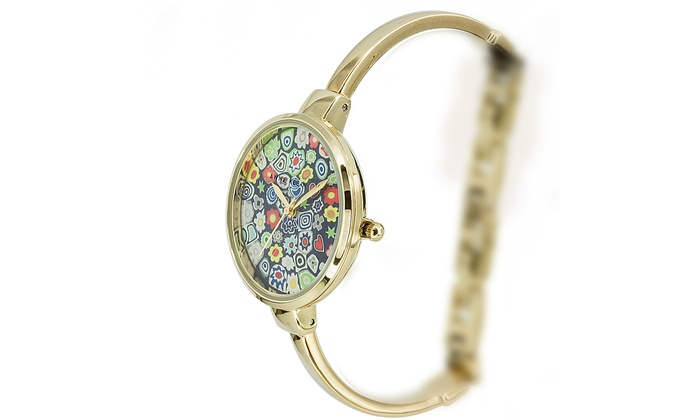 products s crystal armitron pearl watches watch mother silvertone bangle womens of d dial women