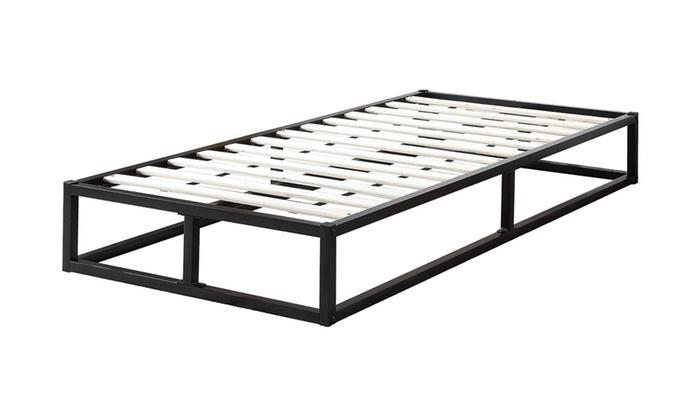Metal Low Platform Bed Frame with Optional 5
