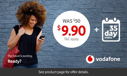 Vodafone $50 Prepaid Combo Starter Packs for $9.90
