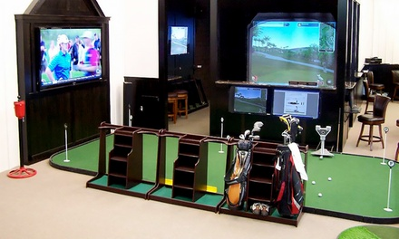 18-Hole Golf Simulator for Two or Four, or Two-Hour Swing or Short-Game Clinic at Golf 4 Groups (Up to 59% Off)