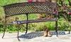 Bainbridge Outdoor Copper Finish Bench: Bainbridge Outdoor Copper Finish Bench