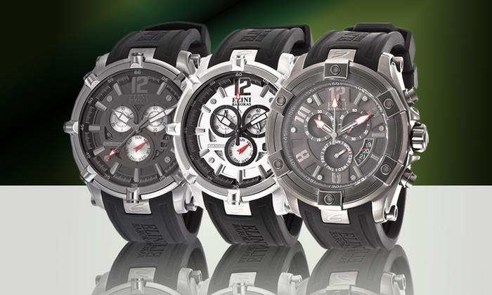 Elini Barokas Men's Chronograph Watch: Elini Barokas Men's Chronograph Watch in Gladiator Black or Fortitudo Black or Silver. Free Returns.