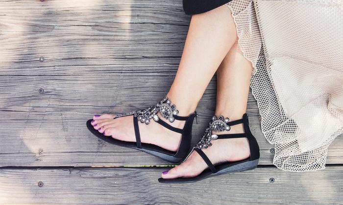 Muk Luks Women's Beaded Sandals
