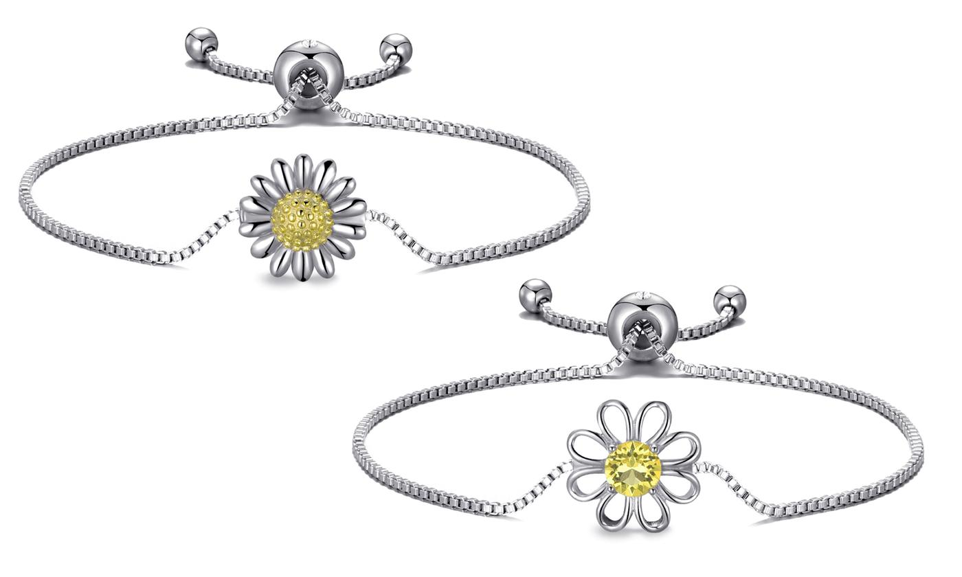 Phillip Jones Daisy Bracelet with Optional Crystals from Swarovski®