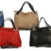 Leder-Handtasche in Flechtoptik