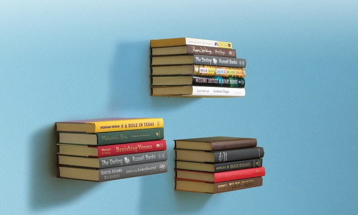 Stainless Steel Invisible Book Shelf