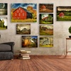 Lois Bryan's Barns on Fall Landscapes Canvas Art