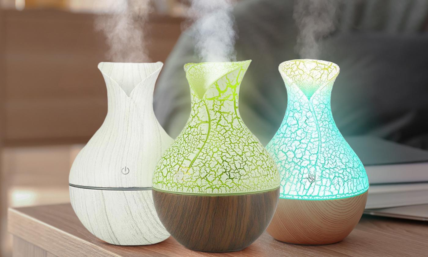 One, Two or Three 130ml Vase Humidifier and Essential Oil Diffusers