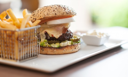 Burger with Chips and Beer or Soft Drink for Two or Four at 4* Doubletree Hilton Edinburgh Airport (58% Off)