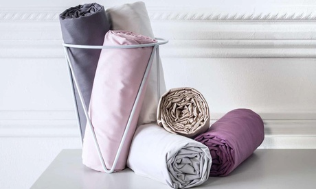 Lot de 2 draps housse en percale de coton TODAY