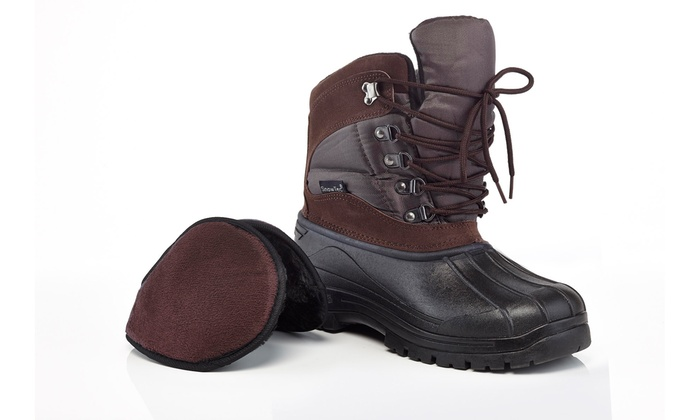 Snow Tec Men's Winter Boots with Free Ear Muffs (Sizes 8 & 9)