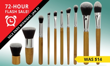 10Piece Bamboo MakeUp Brush Set: One $11.95, Two $18.95 or Three $24.95 Don't Pay up to $117