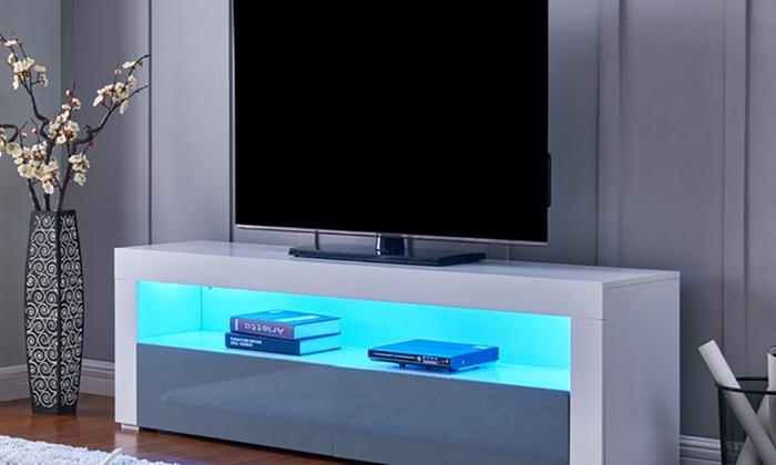 geneva gloss tv cabinet with leds
