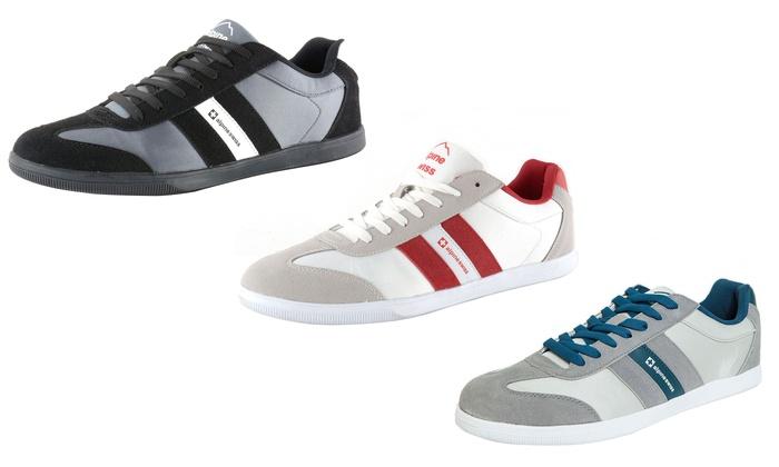 Alpine Swiss Haris Men's Striped Athletic Shoes