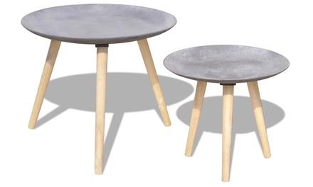 Set van 2 lage salontafels in 2 verschillende maten