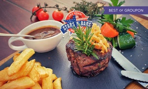 Stars' n' Bars: AED 150 or AED 325 Towards Any Food and Drinks at Stars' n' Bars (Up to 54% Off)