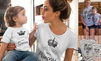 Mother and Daughter T-Shirt Set