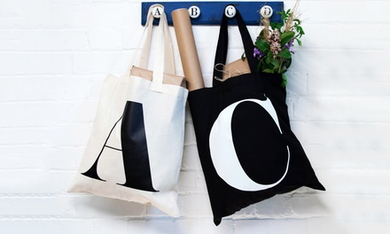 Personalised Initial or Name Tote Bag: One ($9) or Two ($16) (Don't Pay up to $55.16)