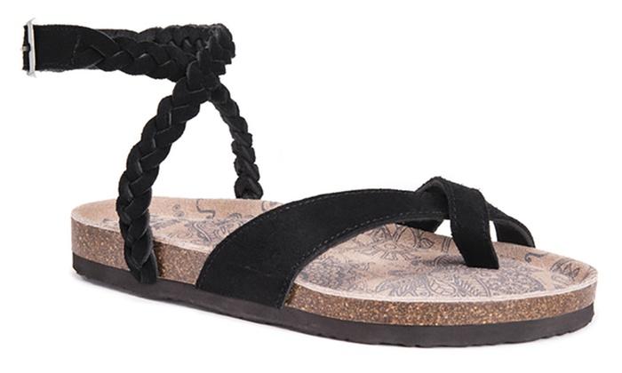 52f976c985a Muk Luks Estelle Women s Criss-Cross Sandals