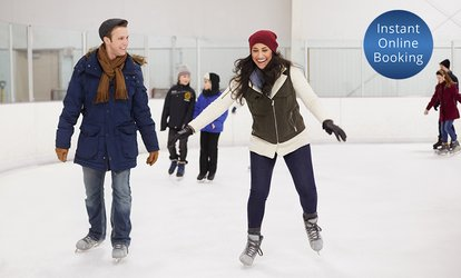 image for Ice-Skating with Skate Hire for 1 ($12) or 4 People ($40), or Family of 5 ($49) at Xtreme Ice Arena (Up to $90 Value)