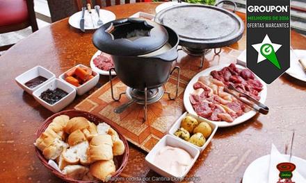 Cantina Don Fondue – Asa Norte:sequência de fondue doce e salgada para 2 (opção de fondue doce pode ser repetida)